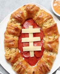 This Football Chicken Crescent Ring is great for parties