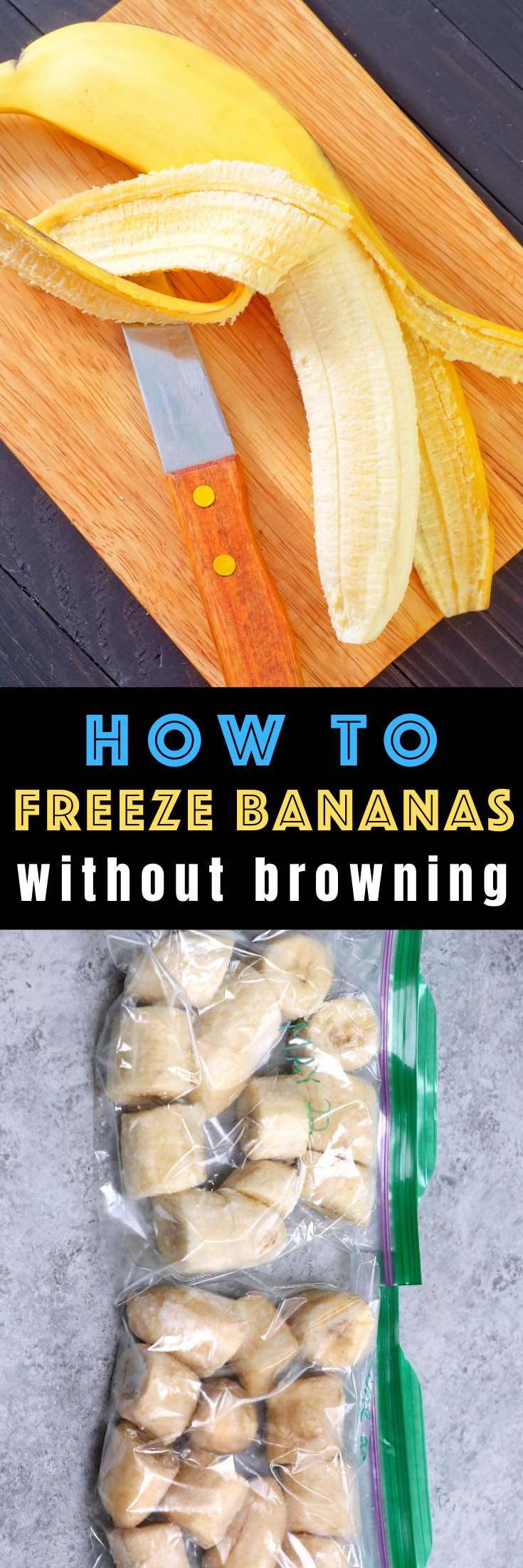 How to Freeze Bananas without discoloring - learn all the tips for freezing bananas quickly and easily