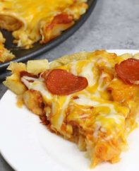 This French Fry Pizza is easy to make and super tasty