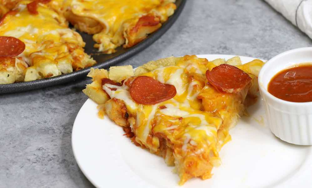 This French Fry Pepperoni Pizza is easy to make and super tasty