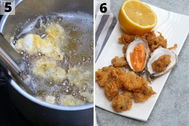 Fried Oysters recipe: step 5 and 6 photos.