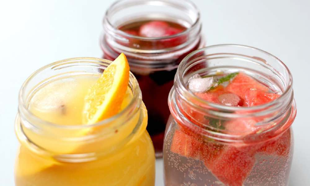 This recipe for Fruit Infused Sparkling Mocktails will cool you down in no time