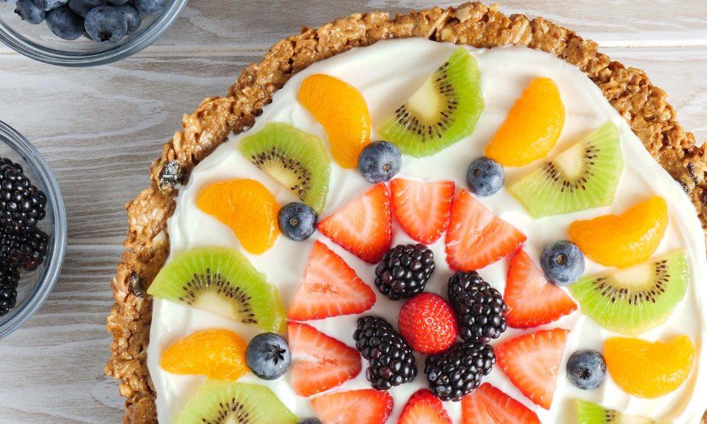 Raisin Bran Fruit Pizza