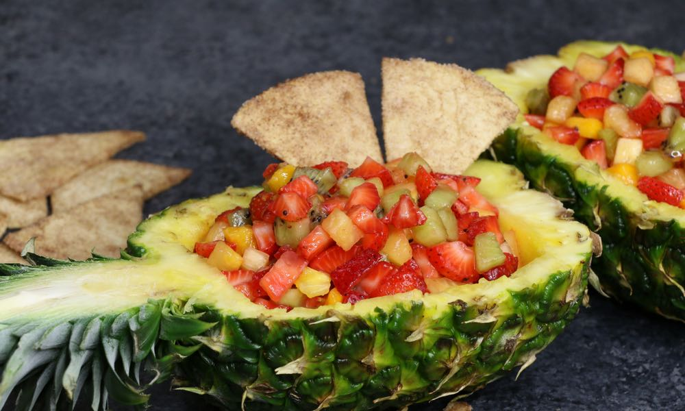Fruit Salsa In Pineapple Boats