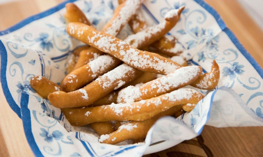 These Funnel Cake Fries are a delicious and easy dessert that's great for sharing
