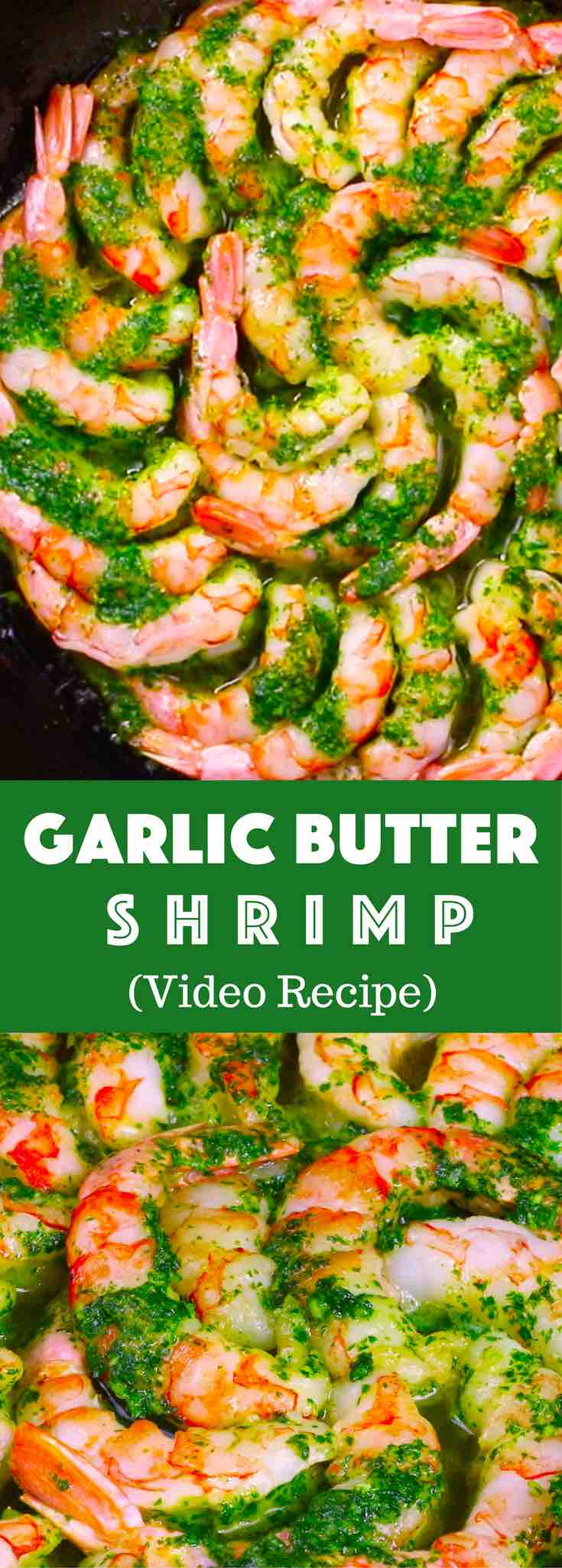 Easy Garlic Butter Shrimp – One of the most unbelievably delicious shrimp recipes. Succulent shrimp baked in garlic and buttery sauce. So Good! Quick and easy dinner recipe. Video recipe.