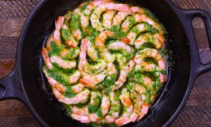 Garlic Butter Shrimp with Parsley