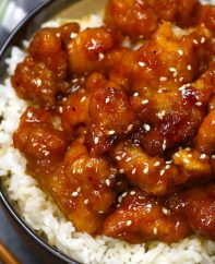 This Crock Pot General Tso Chicken is a delicious slow cooker version of the classic Chinese dish General Tso Chicken, crispy chicken in a tangy sauce.
