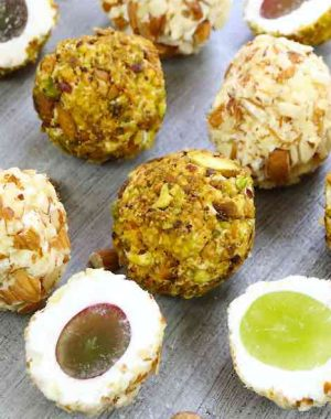 This Grape Cheese Balls recipe is a great snack with no carbs