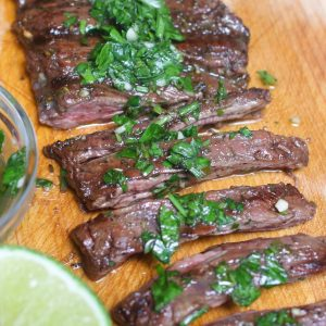 This Skirt Steak is melt-in-your-mouth delicious with a tender and juicy texture. A simple trick to get the best-tasting skirt steak recipe is marinating the meat prior to grilling or pan-searing.