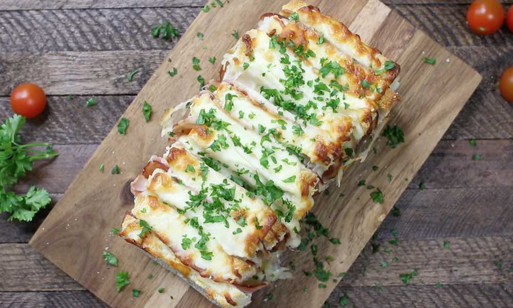 Ham and Cheese Pizza Pull Apart Bread