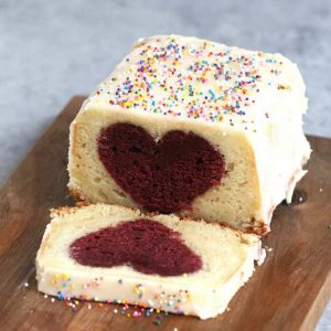This Heart Surprise Cake recipe is perfect for Valentine's Day