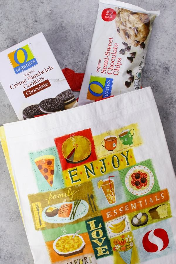 O Organics chocolate chips and cookies shop at Safeway for the holidays
