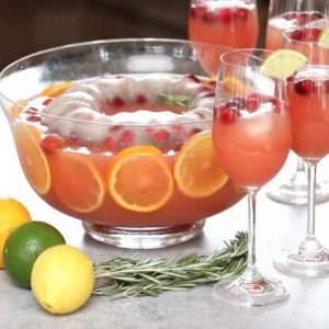 Here is a suggested presentation of the Holiday Punch Bowl