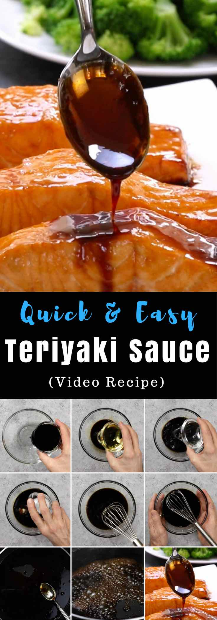 This homemade Teriyaki Sauce is so much better than store-bought bottled sauce or the teriyaki sauce you get from your favorite takeout restaurant. It's sweet and sticky, perfect for stir frying, grilling and baking.