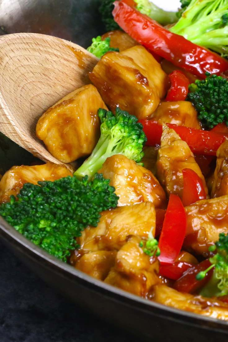 Two Serving Healthy Honey Chicken and Vegetables