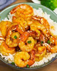 Honey Garlic Shrimp Rice Bowls