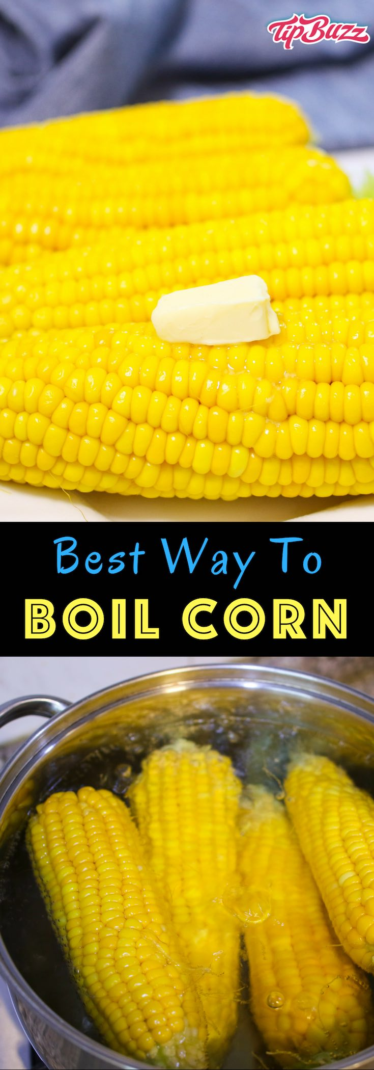 Boiling corn on the cob is perfect for backyard bbqs and other get-togethers, and it only takes minutes to make.