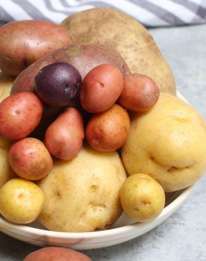 How long do potatoes last? It depends on the variety of potato such as these red potatoes, Yukon Golds, russets and baby potatoes