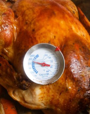 Learn how long to cook a turkey and get a perfectly cooked bird for your Thanksgiving or Christmas dinner! The rule of thumb is 15 minutes per pound, but turkey cooking time also depends on oven temperature, whether it's stuffed or unstuffed, and thawed vs. frozen.