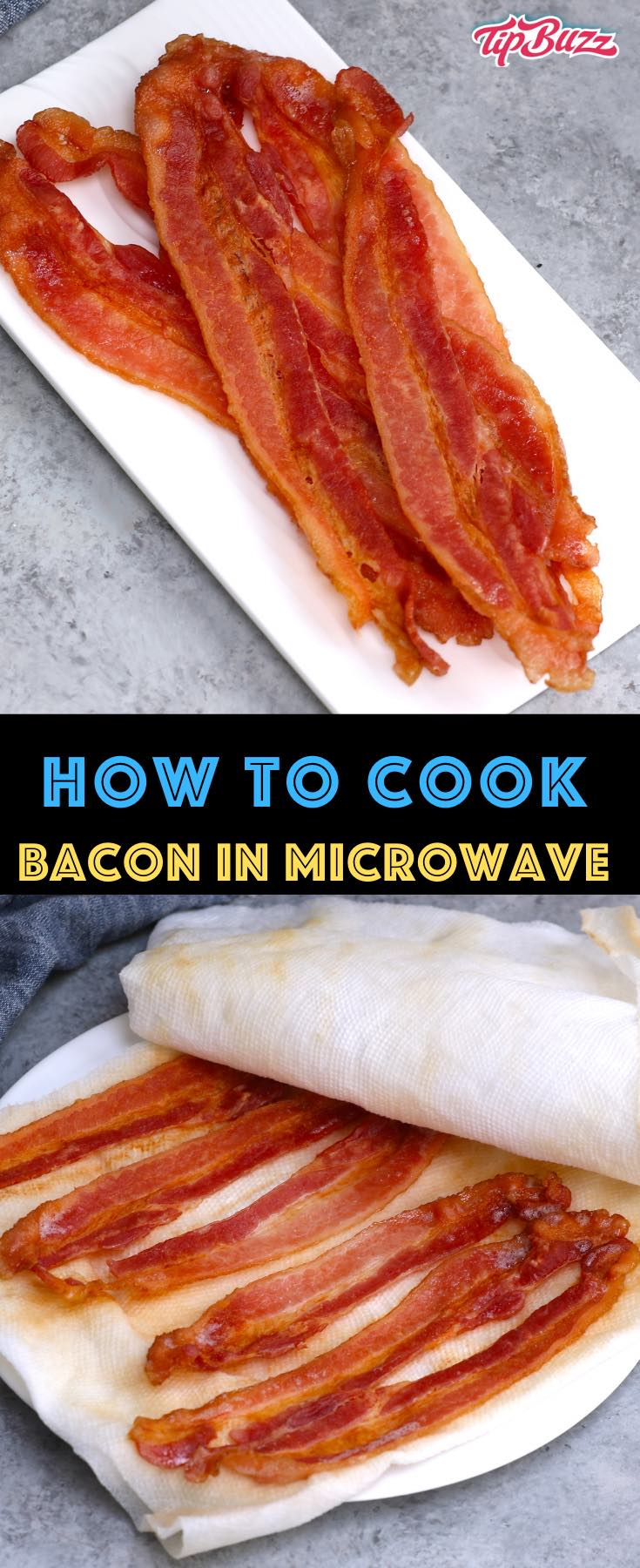 Find out how long to microwave bacon, whether you've got regular or thick-cut bacon. Learn how to cook bacon using a microwave bacon cooker or just paper towels and a plate. It's fast and produces delicious crispy bacon with easy cleanup!