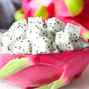 Learn how to cut dragon fruit with this easy step-by-step guide. Dragon fruit is a colorful tropical fruit that's delicious and nutritious