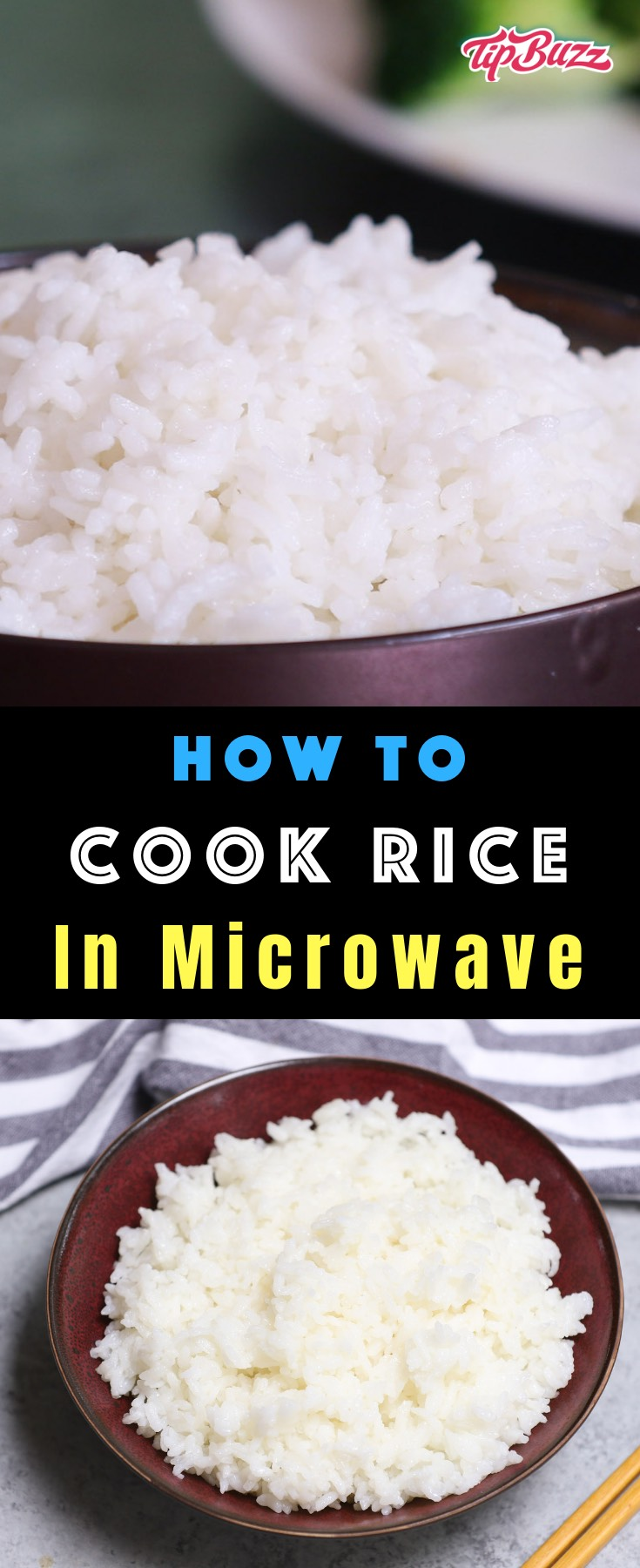 Learn How to Cook Rice in the Microwave – easier, faster and perfectly cooked each time. Rice cooked in the microwave is fluffy and tender, tasting the same, if not better than a rice cooker or stovetop.