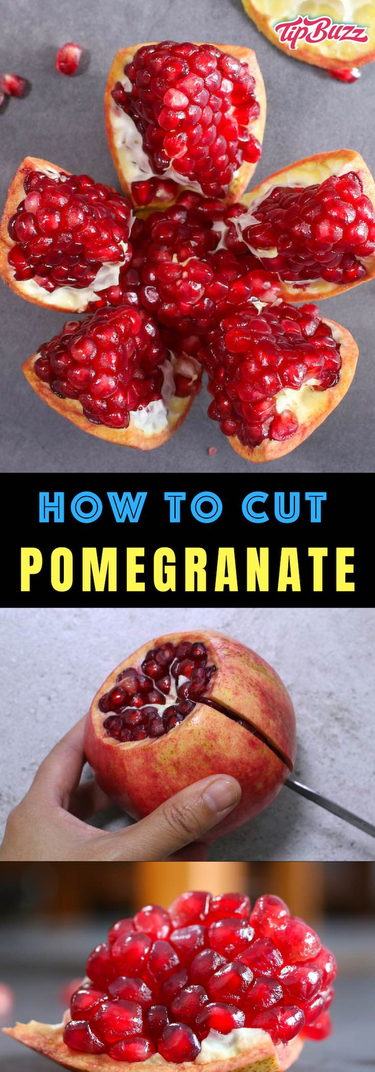 Learn how to cut a pomegranate quickly and easily using this simple step-by-step guide. Pomegranate makes a delicious and healthy snack with sweet, tart flavors and beautiful colors.