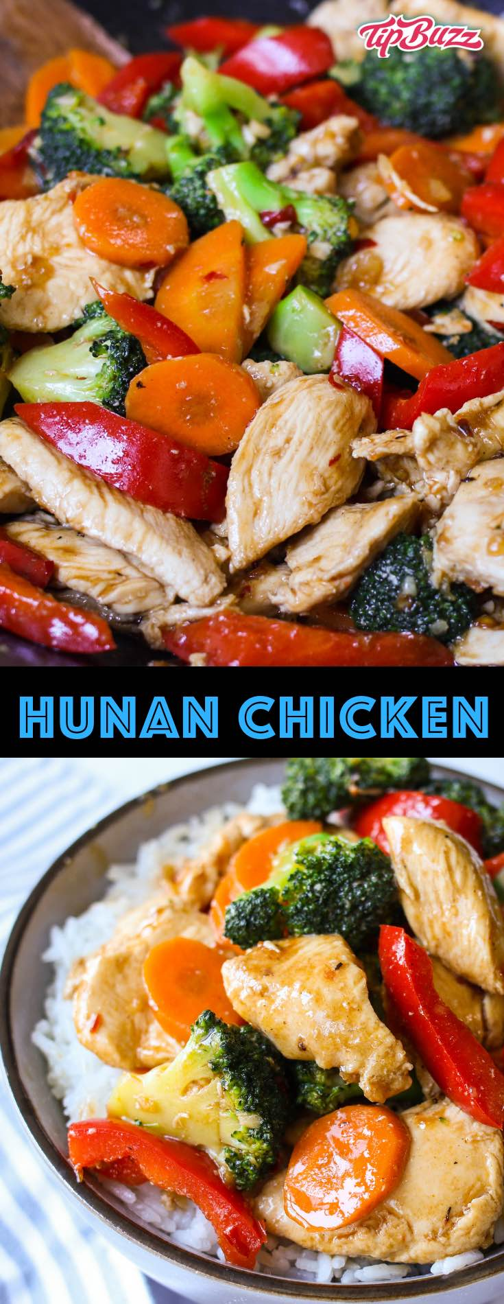 Hunan Chicken is a delicious dish of Chinese chicken and broccoli seasoned with garlic, ginger, soy sauce and doubanjiang, or spicy fermented chili bean paste