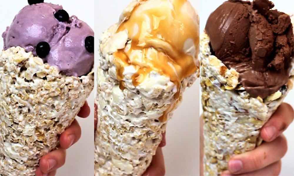 Homemade ice cream cones recipe with video tipbuzz homemade ice cream cones ccuart Image collections