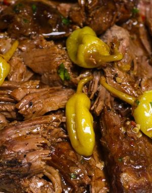 Instant Pot Mississippi Pot Roast is a delicious Instant Pot recipe that you can make in about 90 minutes for a mouthwatering dinner idea