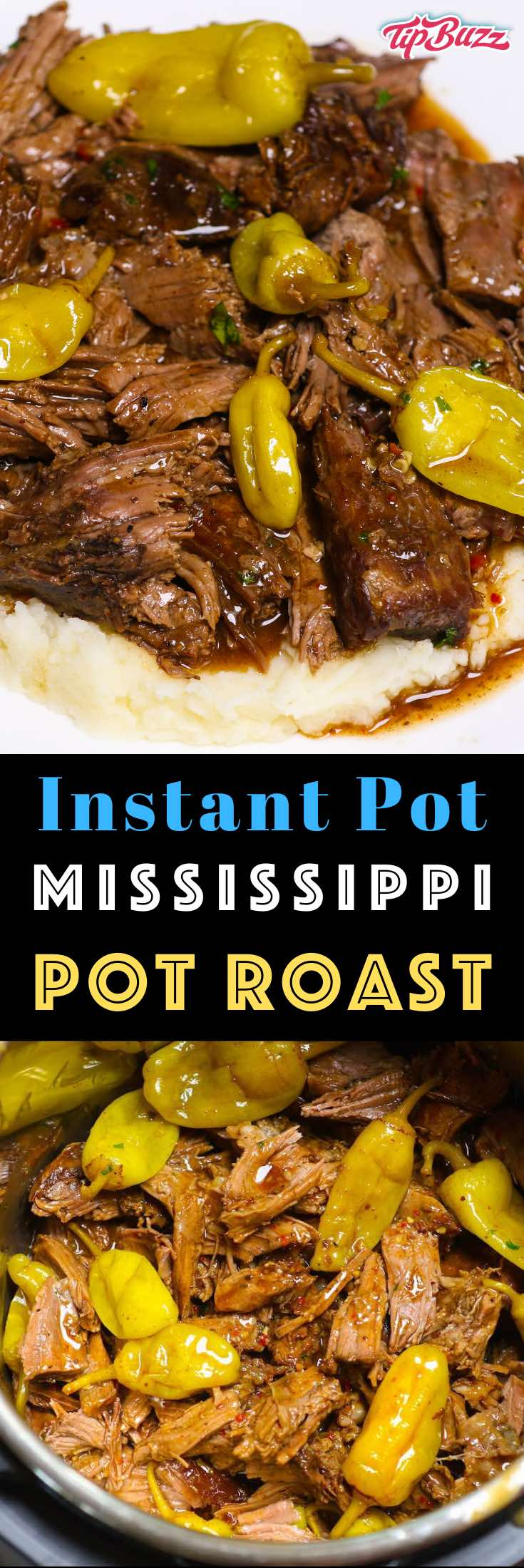 Instant Pot Mississippi Pot Roast is an easy and comforting dinner recipe that even picky eaters will devour. The chuck roast is fall-apart tender with a flavorful gravy. It's made right in your pressure cooker and is so much faster than any other method!
