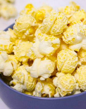 Kettle corn is sweet and salty popcorn that's easy to make at home in just 5 minutes with a few simple ingredients. It makes a delicious snack that's also great for parties and movie night as well as gifts