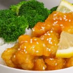 Easy, crispy and most unbelievably delicious Lemon Chicken with Rice Bowls. So much better than take outs! All you need is only a few ingredients: chicken breast, lemon, salt & pepper, egg, oil, sugar, and cornstarch. One of the best Asian dinner ideas! Served with rice and broccoli. Quick and easy dinner recipe.