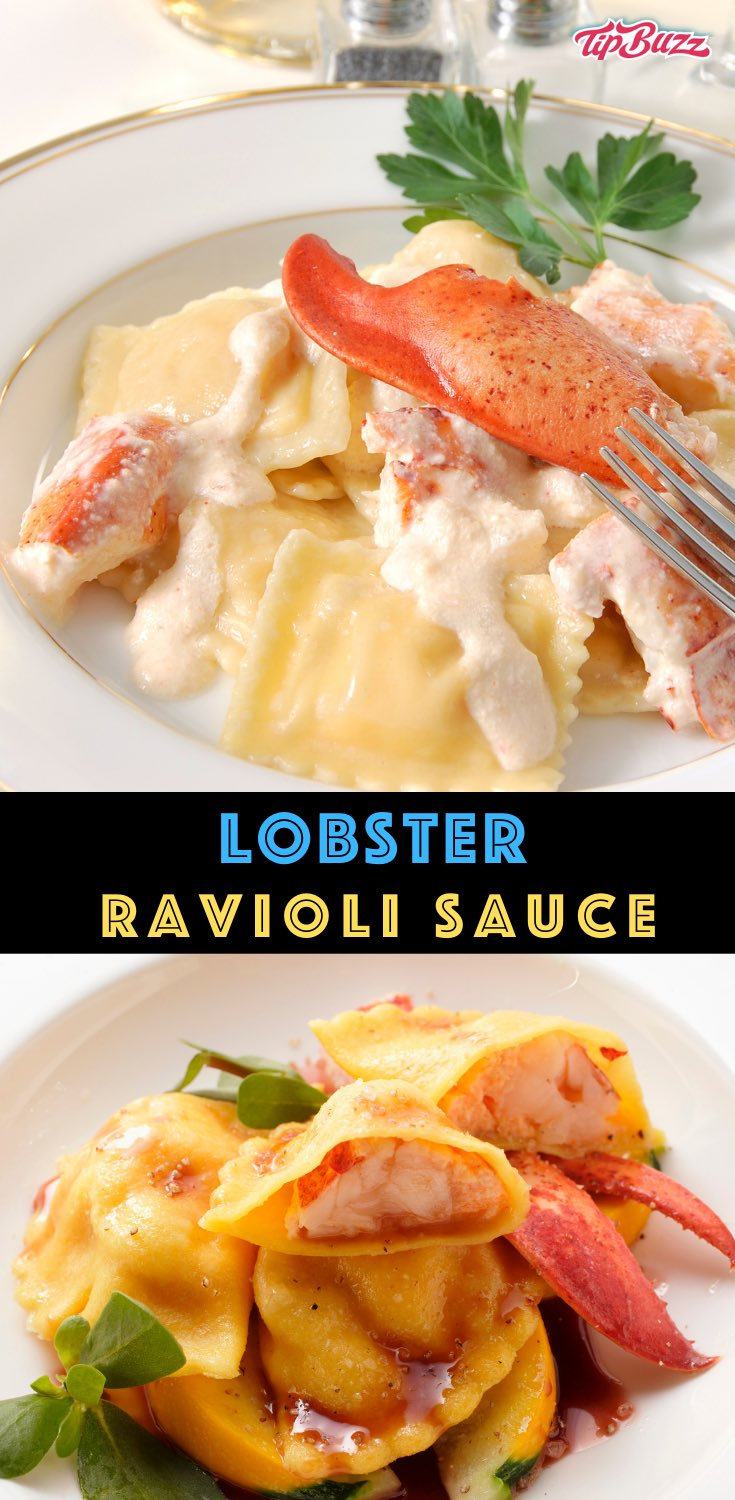 This Lobster Ravioli Sauce is rich and creamy to compliment the delicious seafood flavors in lobster ravioli! It only takes 20 minutes to make with a few simple ingredients. #lobsterravioli