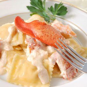 Lobster ravioli cream sauce