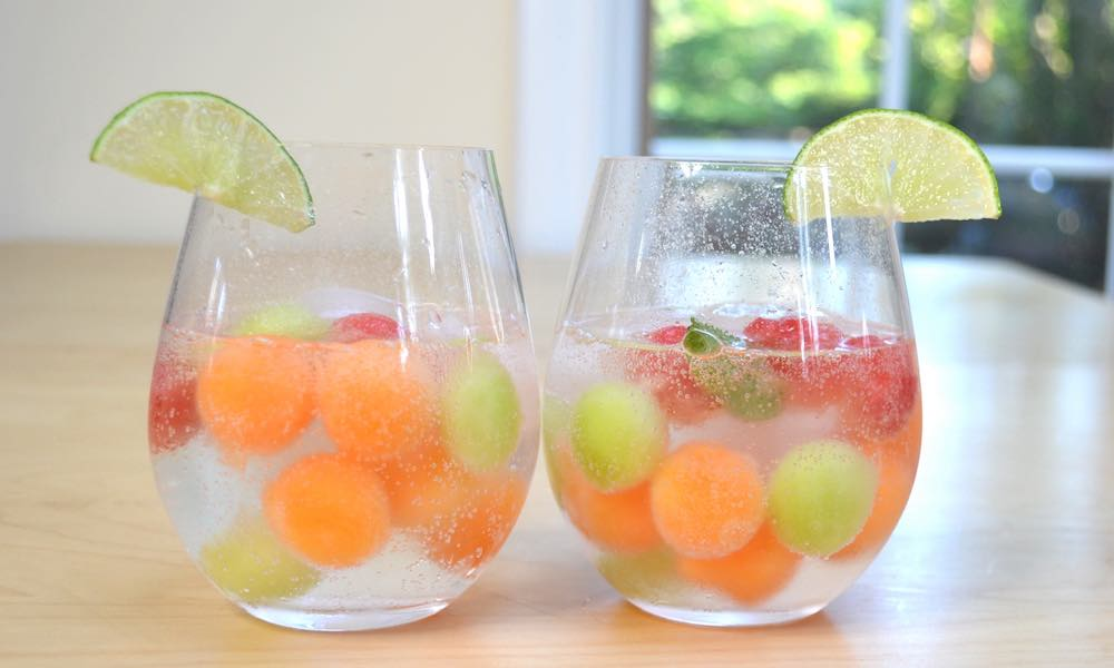 Easy Melon Ball Sangria