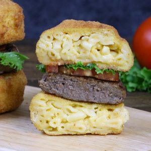 Fried Man and Cheese Burgers - so good