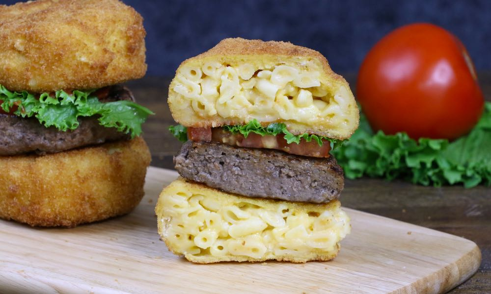 Fried Mac and Cheese Burgers