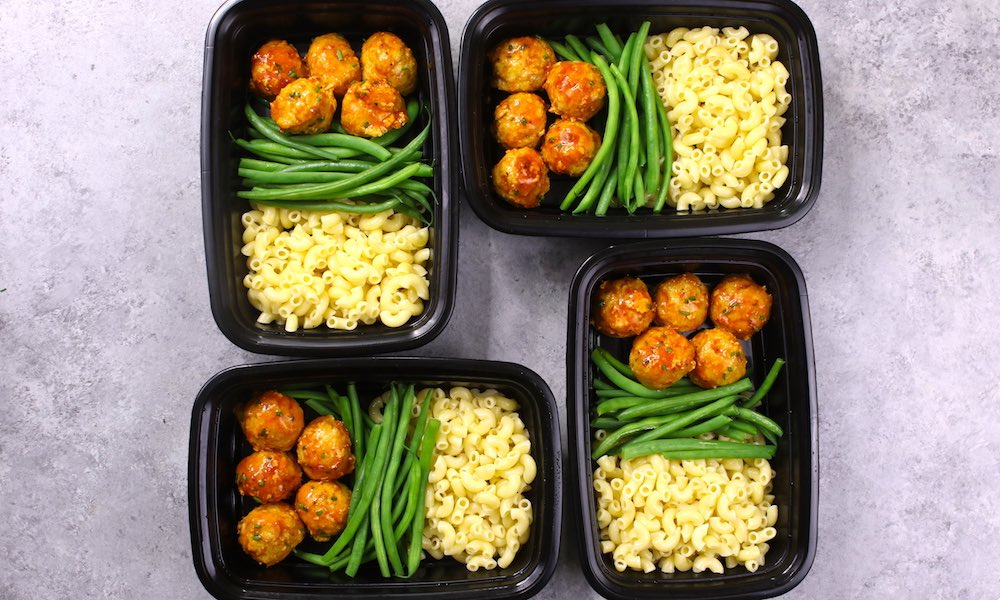 BBQ Chicken Meatballs Meal Prep
