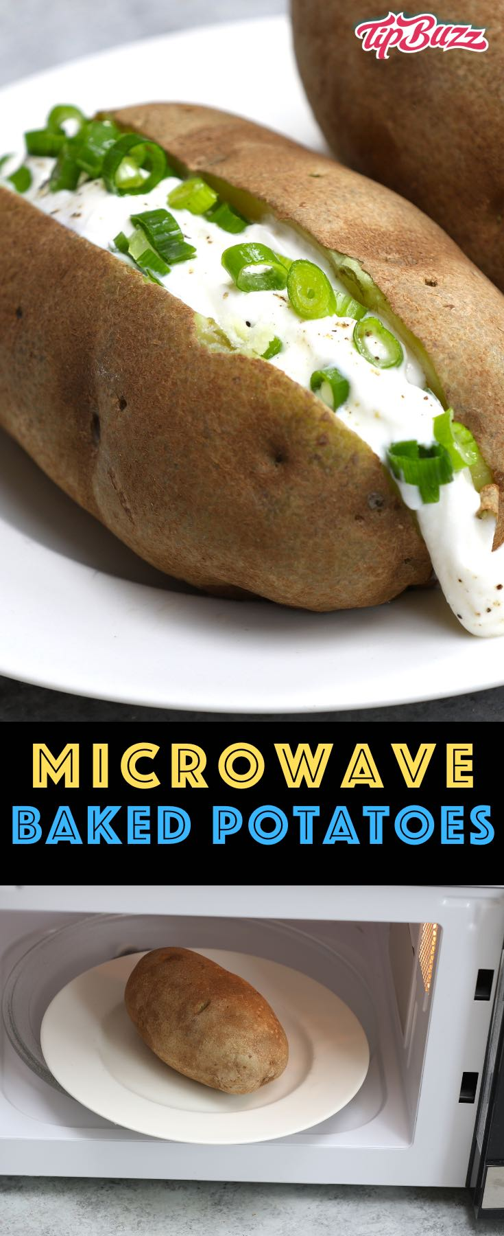 Learn how to make the perfect baked potato easily in the microwave! It's faster than using the oven and requires minimal effort. #microwavepotato