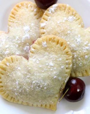 These Mini Cherry Pies are a great way to say I Love You for Valentines Day