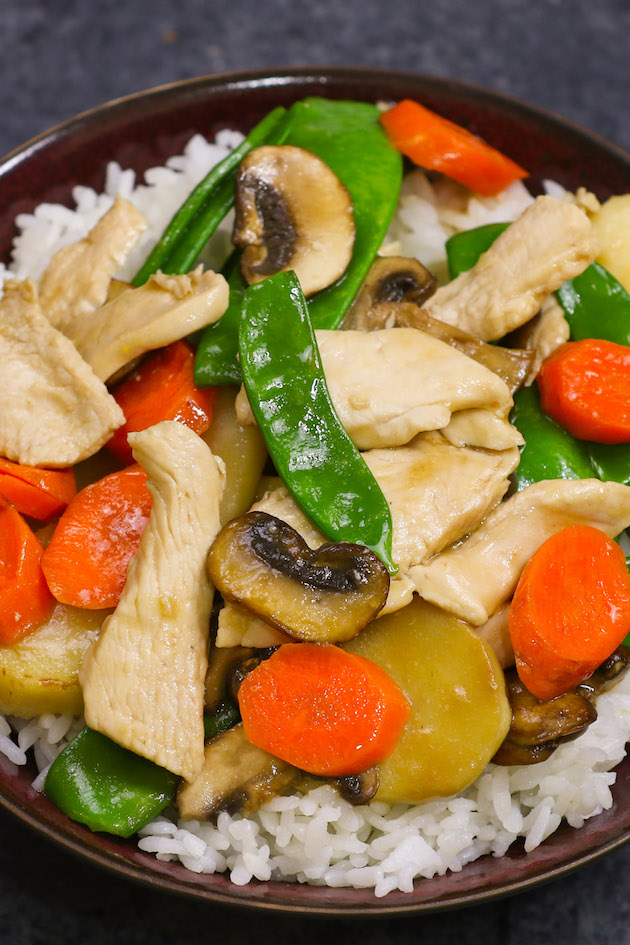 Moo Goo Gai Pan is a delicious Chinese chicken and vegetable stir-fry recipe with a mouthwatering moo goo gai pan sauce. I will share with you easy restaurant techniques for making the most tender and flavorful chicken for stir-fry. This recipe is healthy, keto-friendly and low in calories.