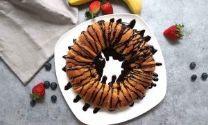 This Nutella Banana Crescent Ring is a delicious dessert that is easy to make