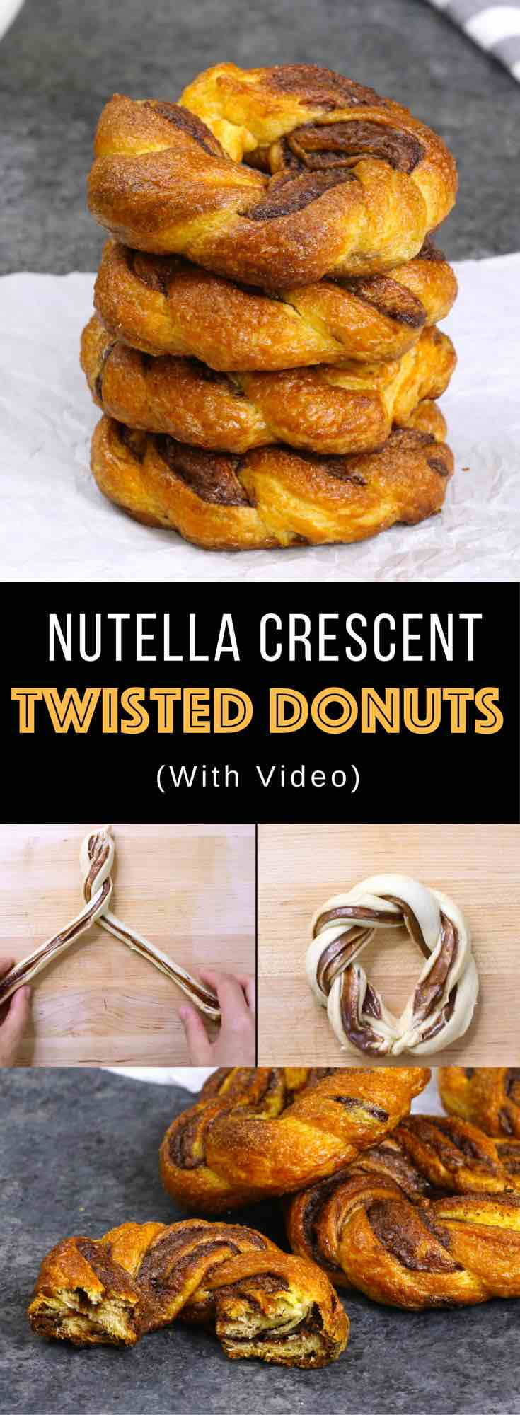 Baked Nutella Crescent Twisted Donuts Tipbuzz