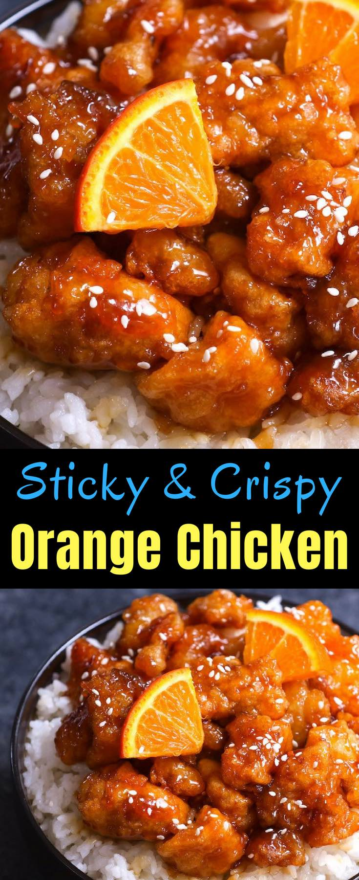 This Orange Chicken has crispy chunks of tender chicken covered in a tangy orange sauce. It makes a delicious weeknight dinner that's budget friendly and kid approved. So skip the takeout from Panda Express and try this orange chicken recipe!
