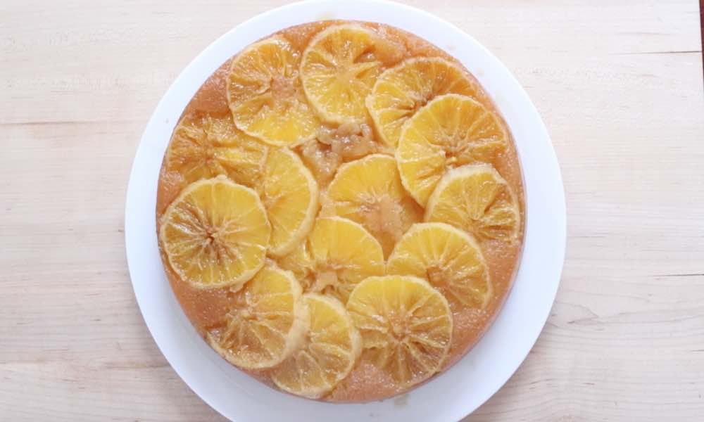 This Orange Upside Down Cake recipe is easy to make, beautiful and delicious