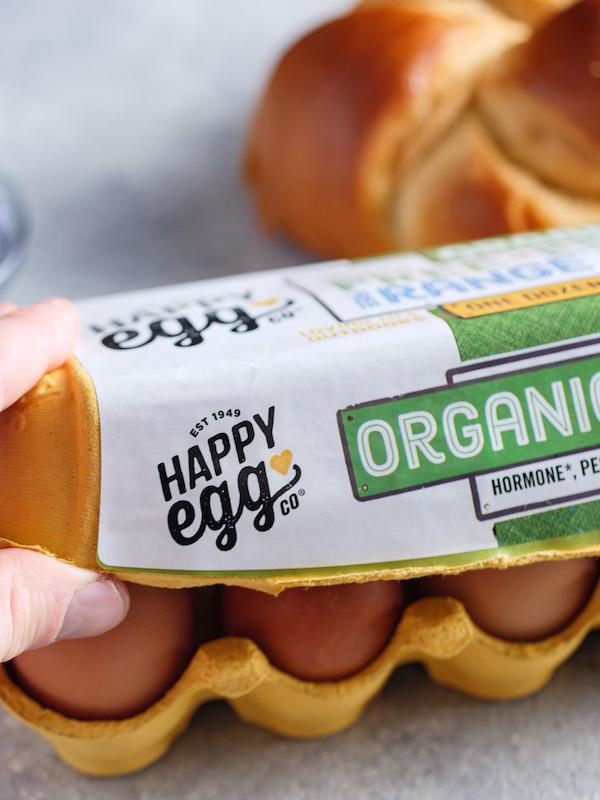 Organic Free Range Happy Eggs