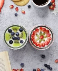 Savor a perfect DIY Me Moment with Oui French-style yogurt topped with fresh fruits - so delicious, easy and fun to make!