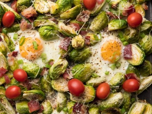 Oven Baked Eggs With Brussel Sprouts With Video Tipbuzz